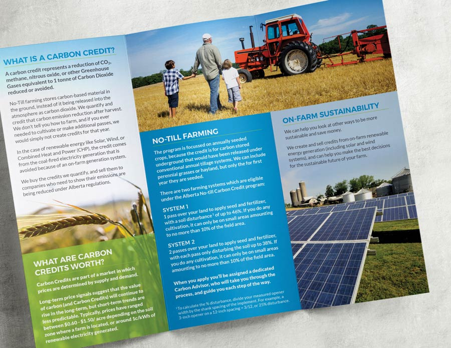 image of Carbon Credit Solutions brochure cover